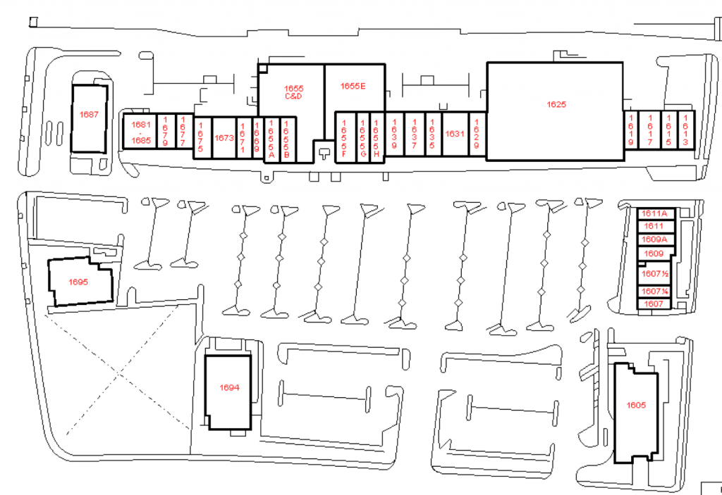 Hacienda Center Site Map